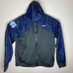Nike Carolina Tarheels polyester zip windbreaker